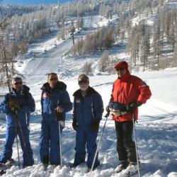 les moniteurs: Alain, Robert, Yves et Gérard